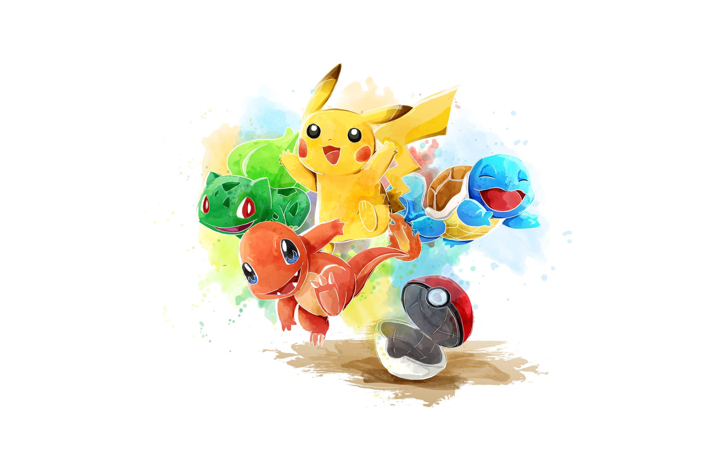 3021x1980 Time Lapse Adobe Illustrator Pokemon Water Color Vector