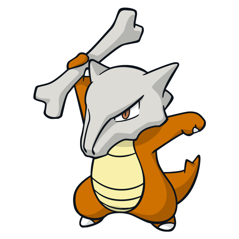 800x800 Marowak Pokemon Character Vector Art Free Vector Silhouette