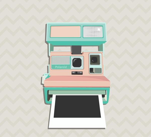 Polaroid Camera Vector