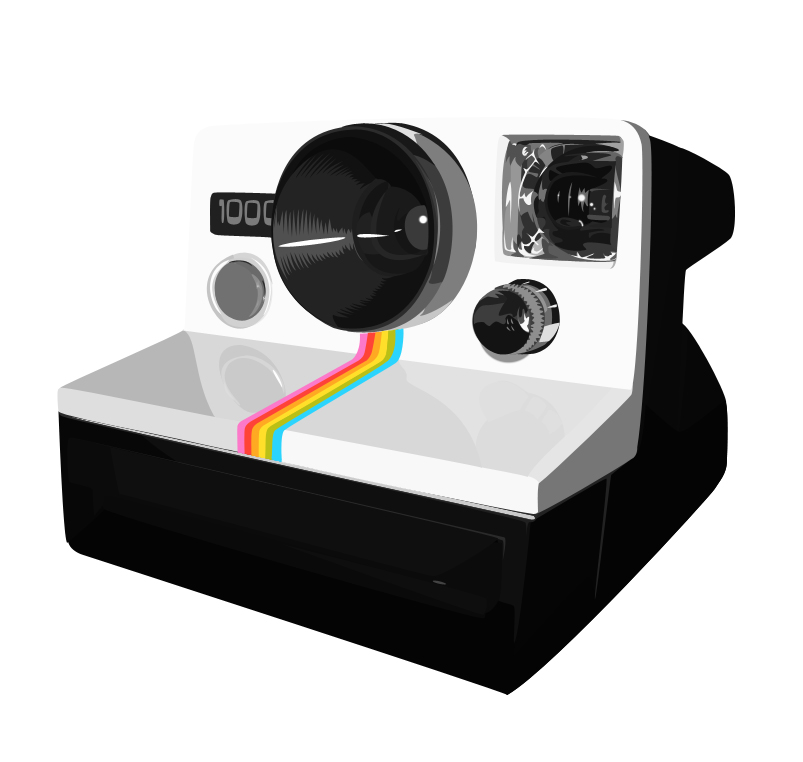 803x762 Polaroid Camera Vector By Odinwolf