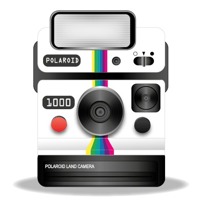 392x396 Polaroid Camera Vector Vectors Stock In Format For Free Download