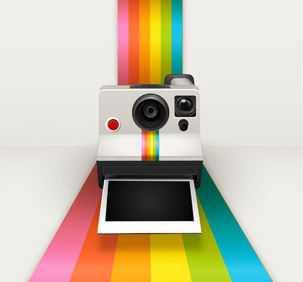 600x558 Color Polaroid Camera Vector Graphics My Free Photoshop World