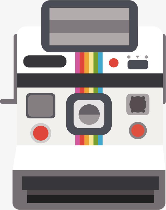 650x823 White Polaroid Camera, Vector Png, Camera, Polaroid Png And Vector
