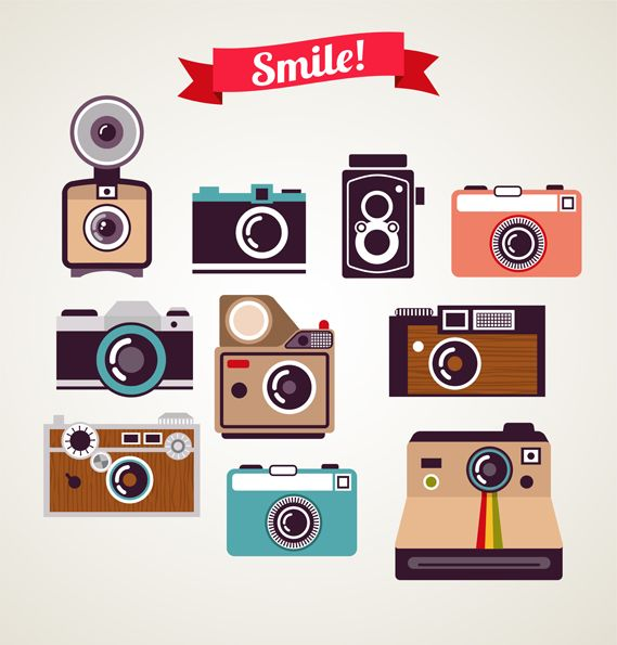 569x595 Old Vintage Polaroid Camera 2 Vector Free Download Free Stuff