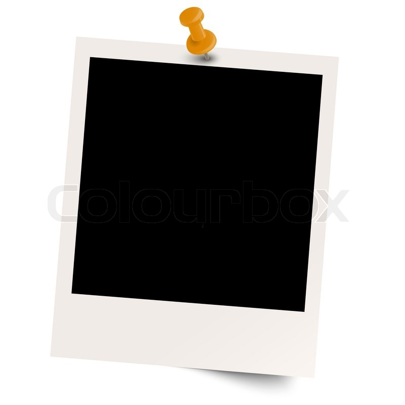 800x800 Blank Polaroid With Pin Needle Stock Vector Colourbox
