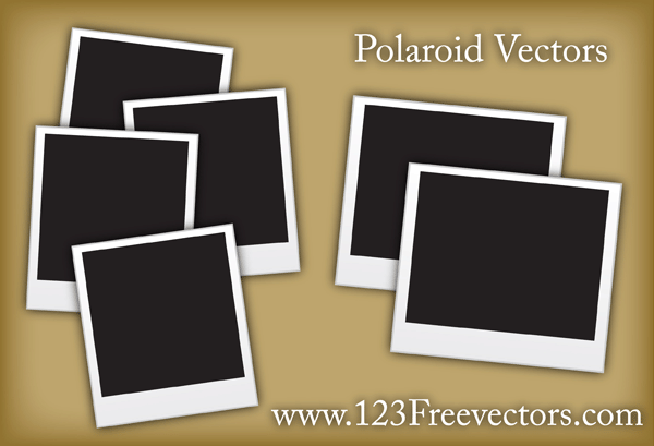600x409 Free Polaroid Frame Vector 123freevectors