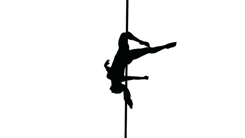 852x480 Pole Dance Silhouette Pole Dancer Silhouette Vector Pole Dancing