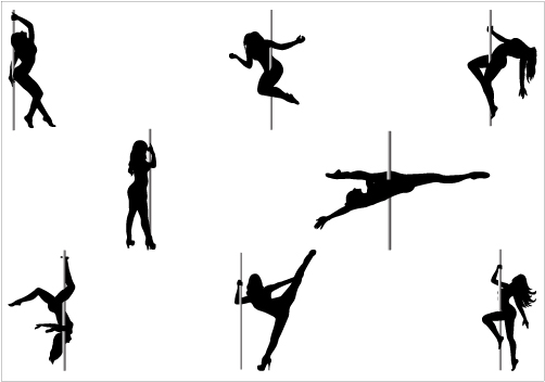 502x352 Pole Dancer Silhouette Vector Clipart Panda
