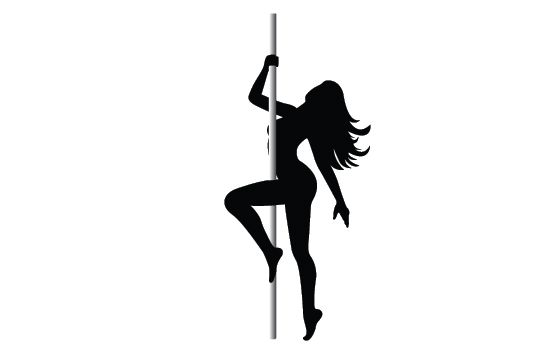 550x354 Pole Dancer Silhouette Vector Tattoos Dancer