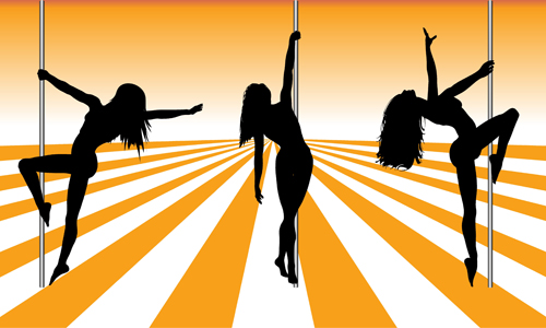 500x300 Pole Dancer Silhouetter Vector Material 05 Free Download
