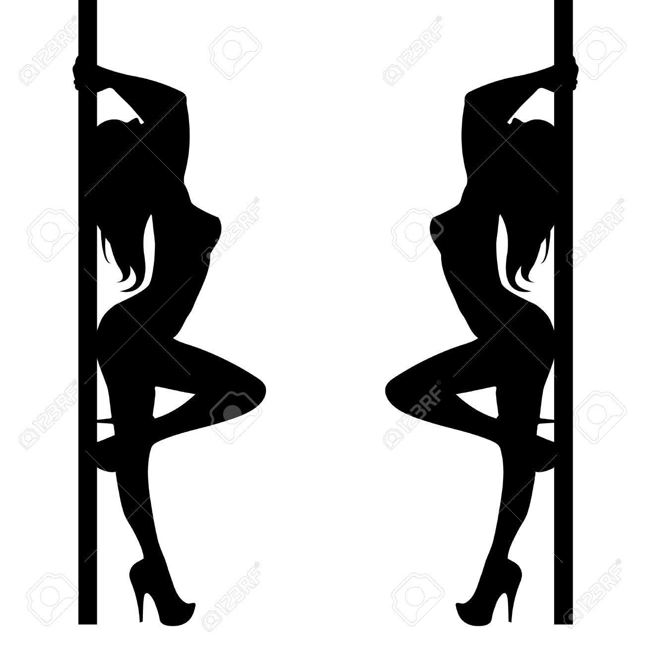 1300x1300 Sexy Pole Dance Icon Symbol. A Set Of Pictograms... Vector