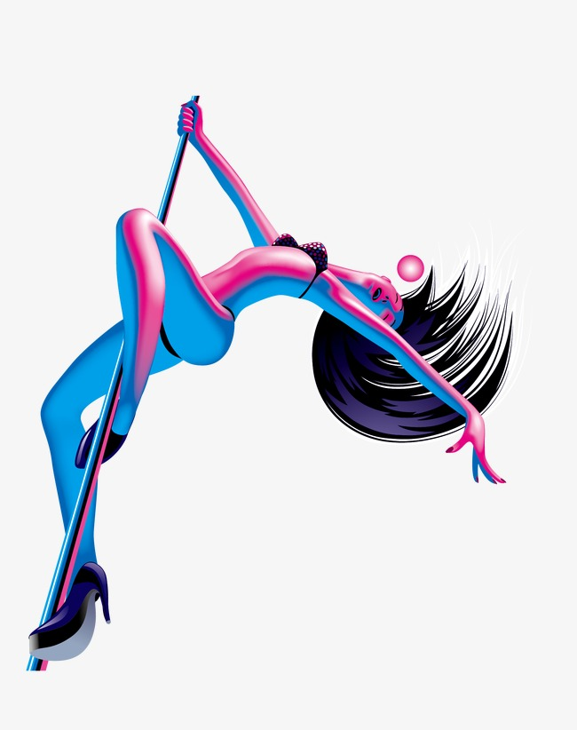 650x822 Vector Pole Dancing Girl, Girl Vector, Pole Dancing Girl, Vector