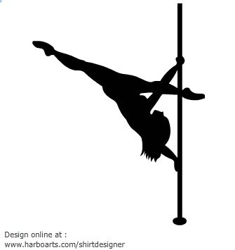 335x355 Pole Dancing Silhouette Vector Graphics Pole Fitness