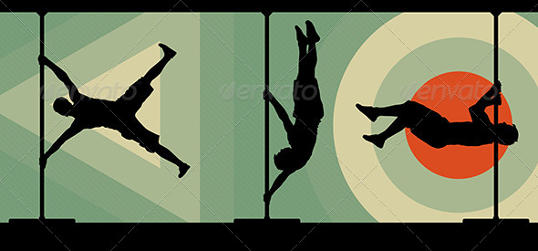 590x275 Male Pole Dancers Performing Pole Moves By Veronika By Graphicriver