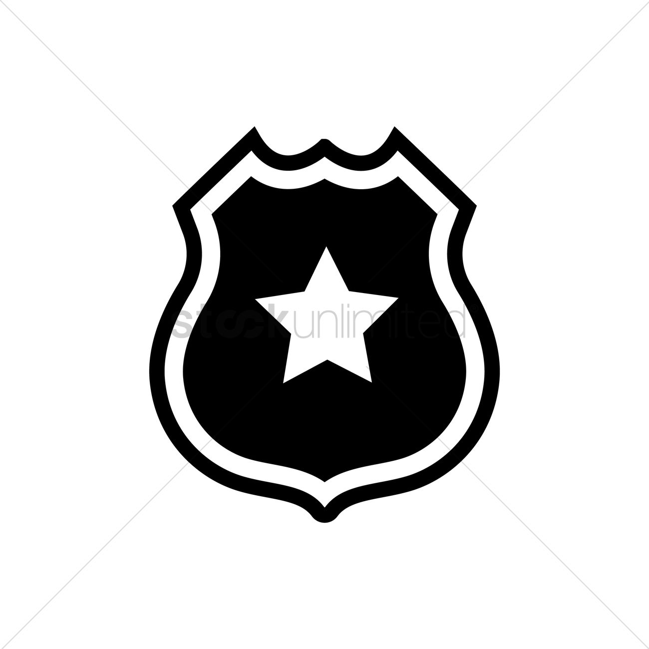 1300x1300 Police Badge Vector Image