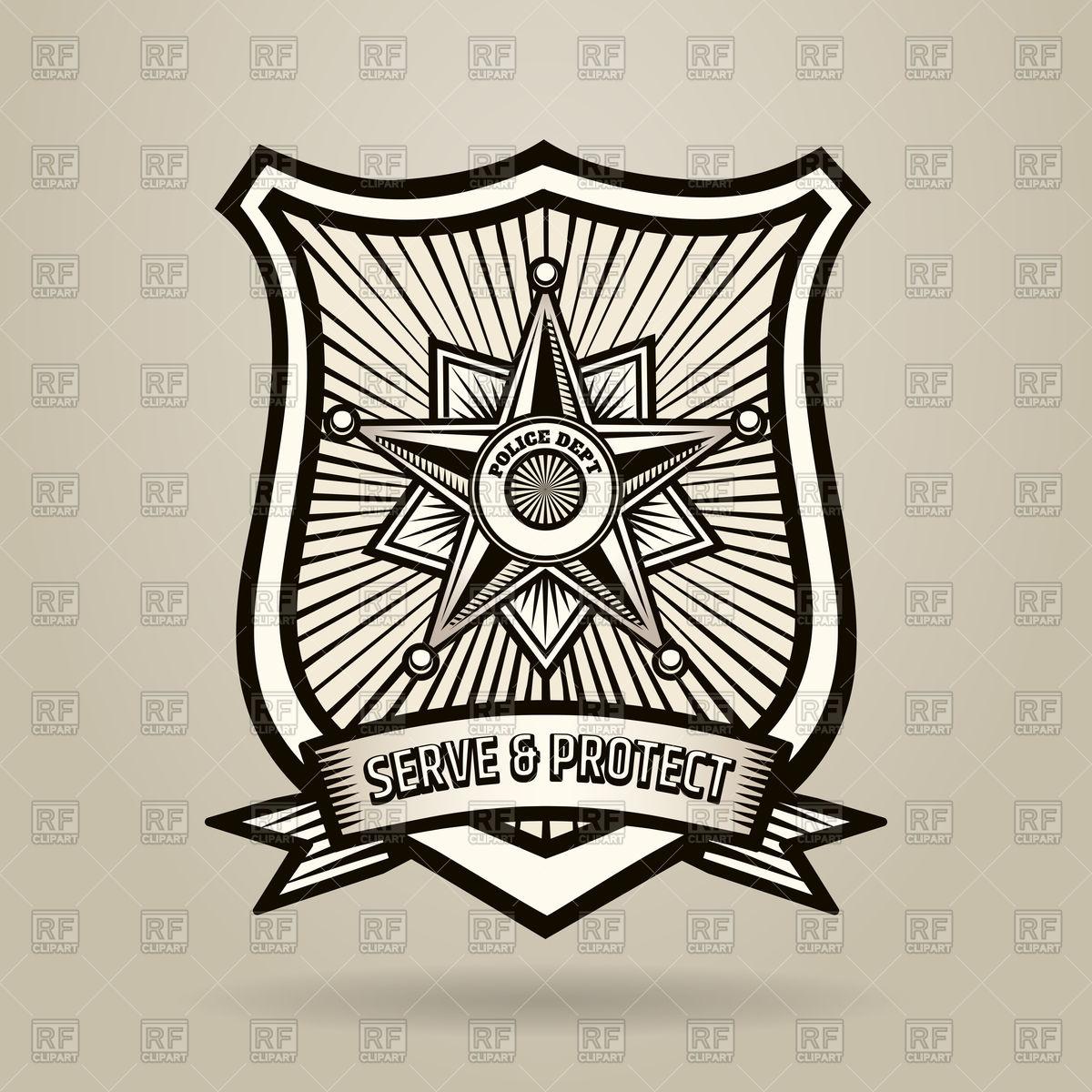1200x1200 Police Badge Vector Image Vector Artwork Of Signs, Symbols, Maps