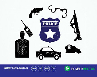 340x270 Police Badge Vector Etsy
