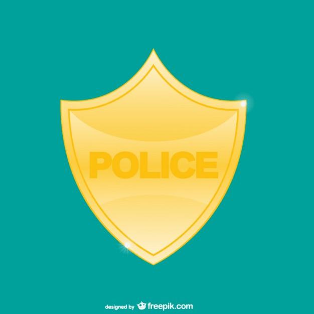 626x626 Police Badge Vector Vector Free Download