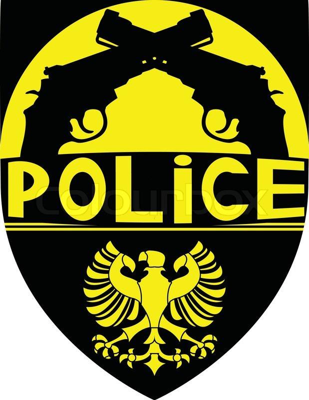 619x800 Police Badge. Vector Illustration For Design Stock Vector