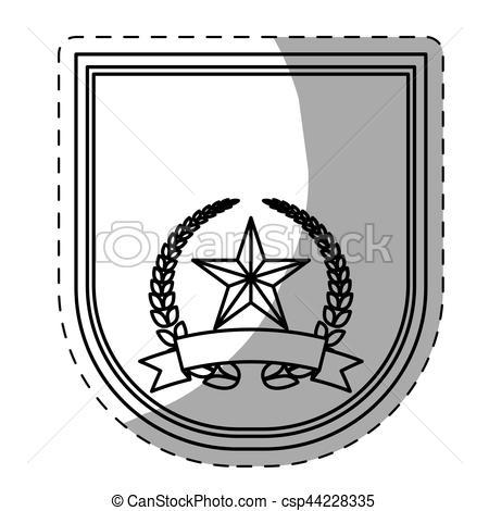 450x470 Figure Police Badge Icon Image, Vector Illustration.