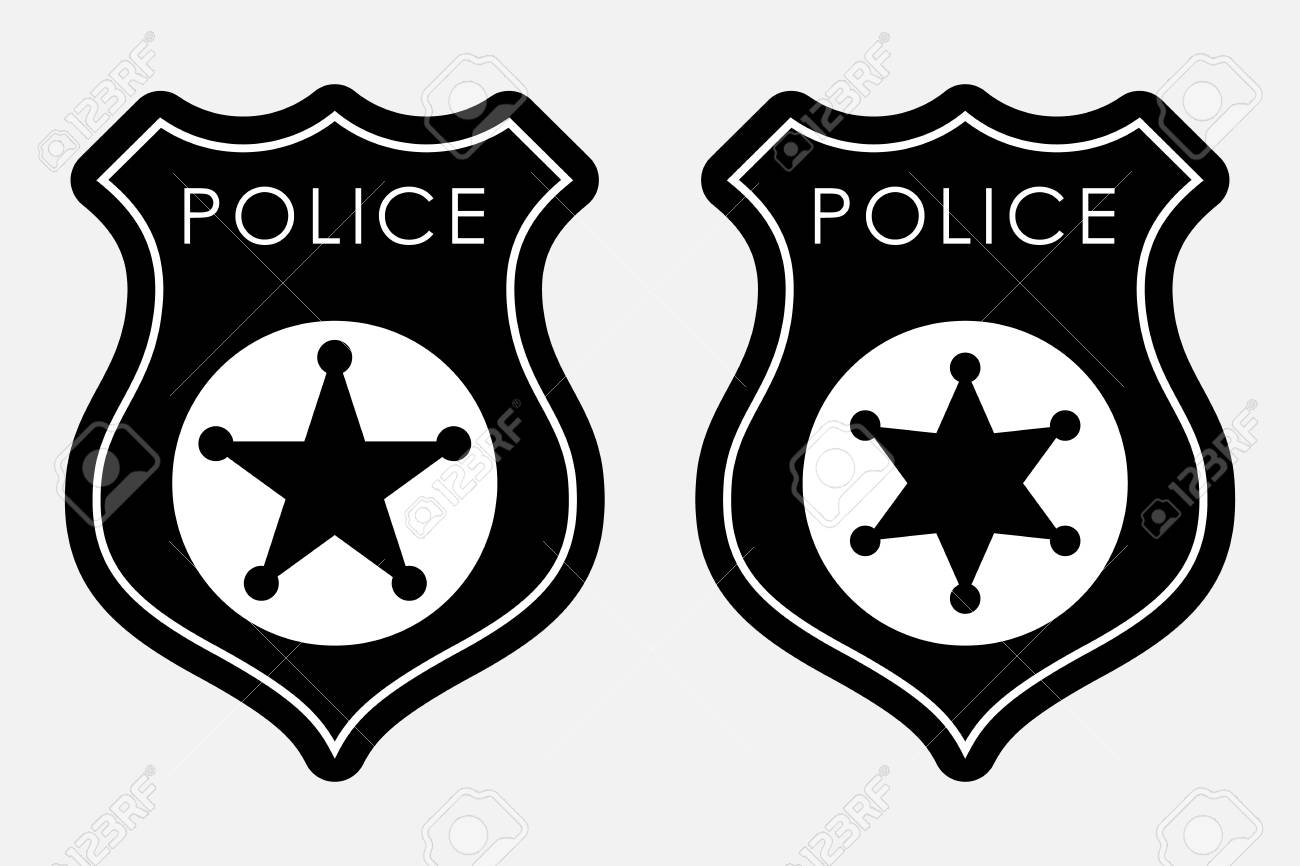 1300x866 Immediately Police Badge Pics Cartoon Doodle Royalty Free Vector