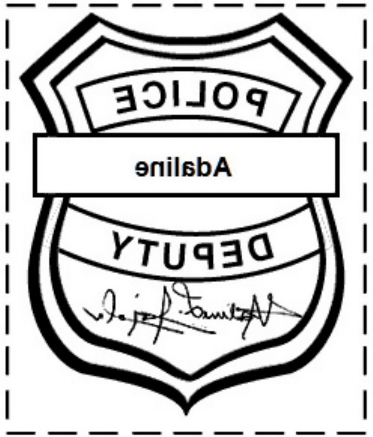 1285x1507 New Police Badge Outline Icon Linear Vector Illustration Stock