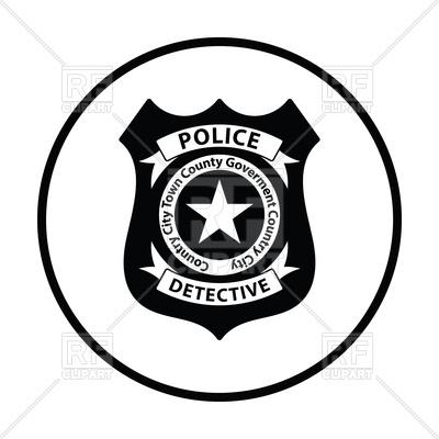 400x400 Police Badge Icon Vector Image Vector Artwork Of Signs, Symbols