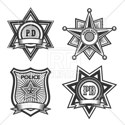 400x400 Police Badges And Emblems Vector Image Vector Artwork Of Icons