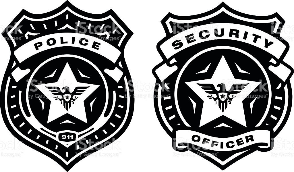 1024x602 Police Officer Badge And Security Officer Badge. Professional