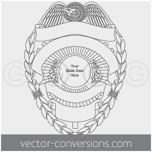 300x300 Sheriff Badge Outline Good 16 Police Badge Vector Graphic Police