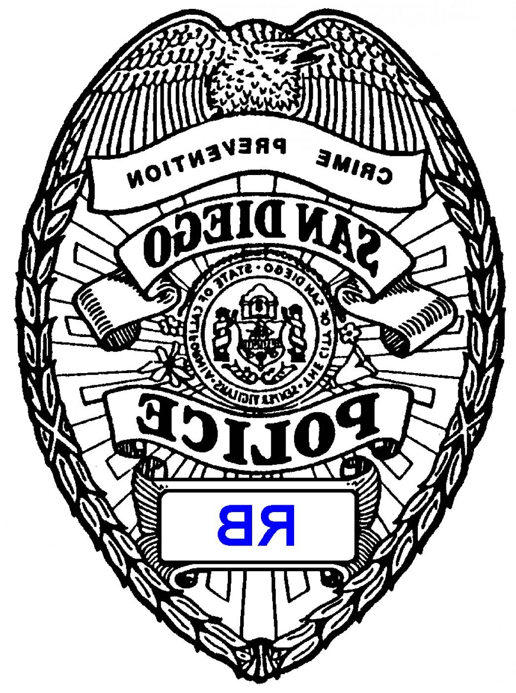 1046x1406 Wonderful Police Badge Outline Printable Shopatcloth