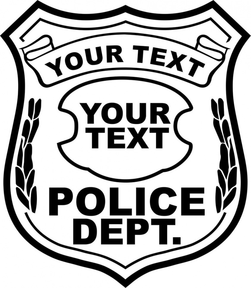 845x970 Download Our Sample Of Free Police Badge Vector Download Free Clip