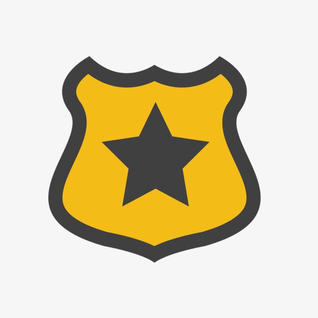650x651 Police Badge Vector Material, Badge Vector, Policemen, Vector