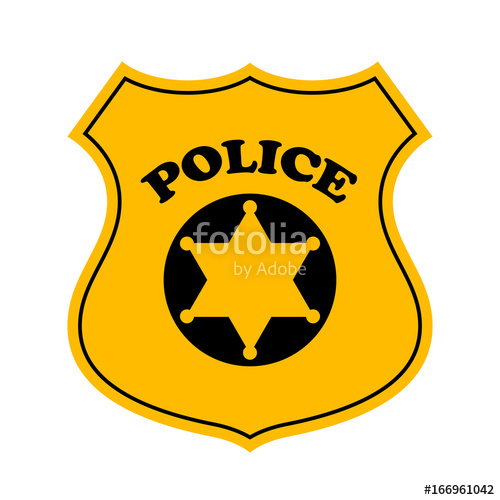 500x500 Police Officer Badge Vector Icon Stock Image And Royalty Free