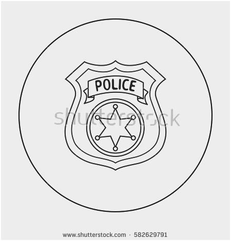 450x470 Sheriff Badge Outline Awesome 12 Generic Police Badge Vector