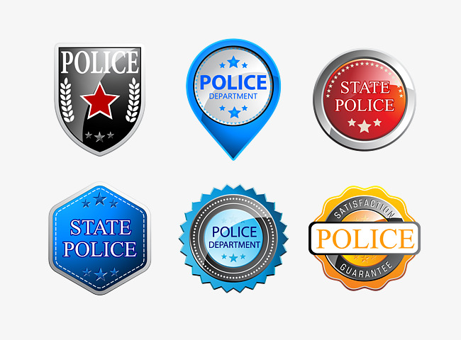 650x480 Police Badge Collection, Badge Vector, Blue, Policemen Png And