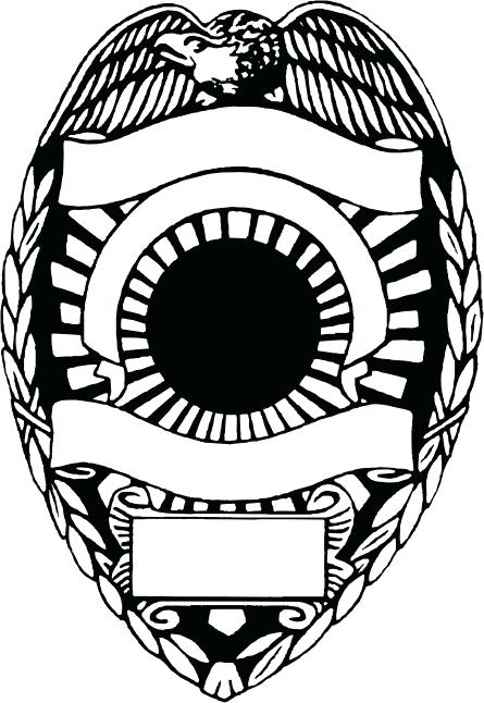 445x646 Police Badge Vector Free Download Police Badge Template Free