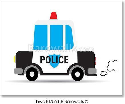 437x364 Art Print Of Police Car Vector Illustration Barewalls Posters