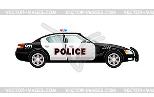 300x189 Police Car In Simple Cartoon Design. Speed Vehicle