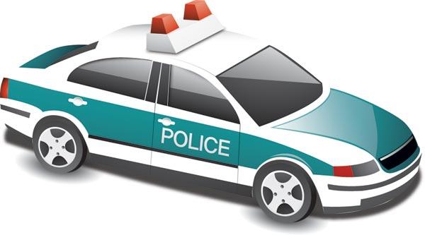 600x333 Police Car Vector Templates