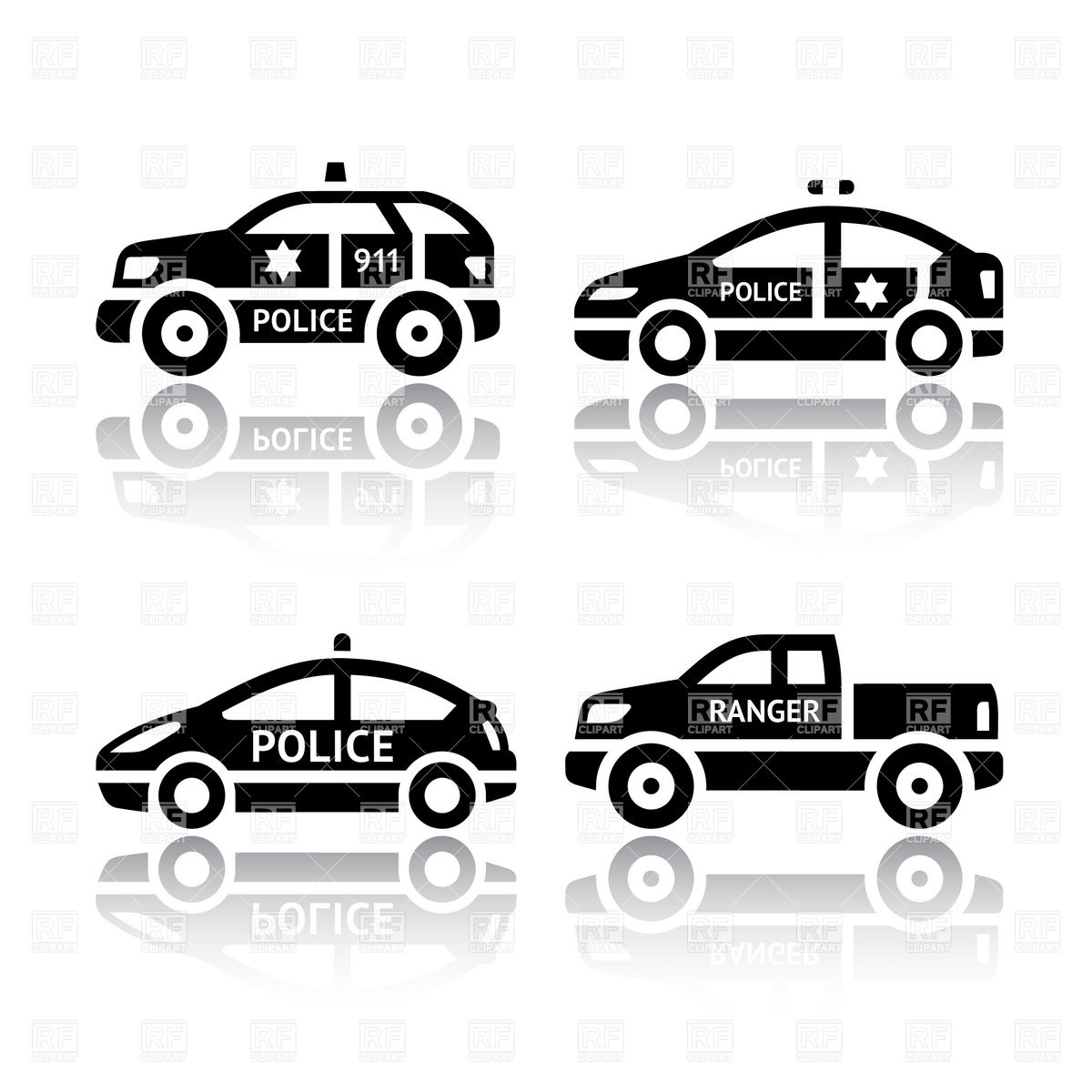 1200x1200 Police Transport Icons