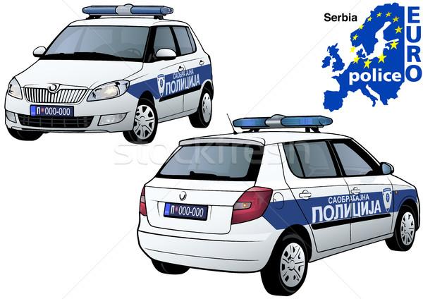 600x424 Serbia Police Car Vector Illustration Roman Dekan (Derocz