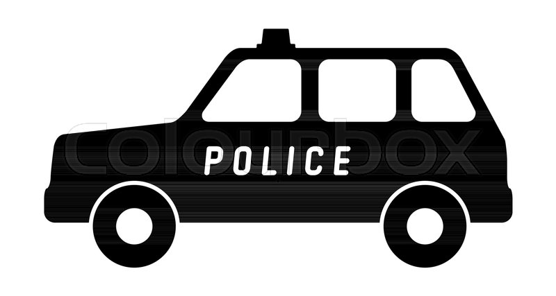 800x427 Silhouette Of A Police Car. Vector Illustration. Stock Vector