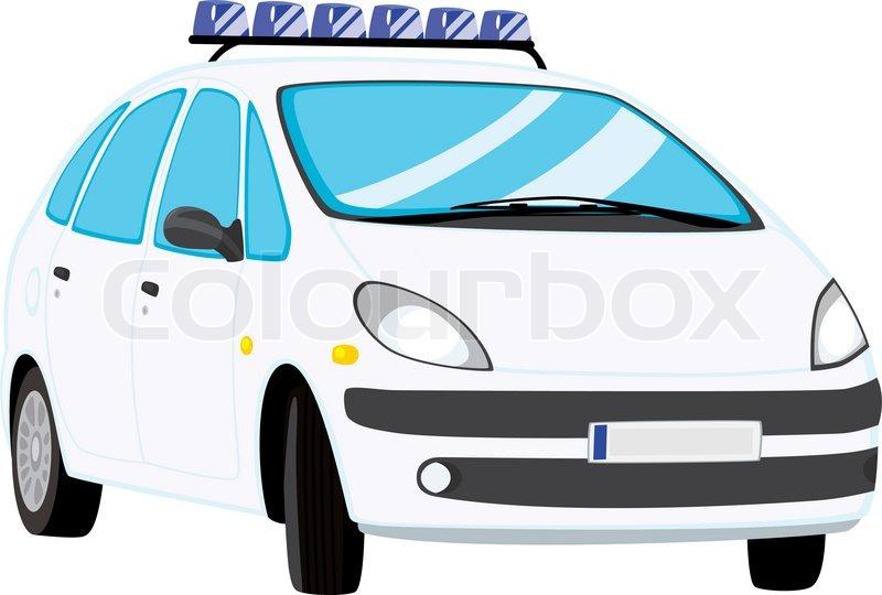 800x540 Vector Illustration Of Police Car Stock Vector Colourbox