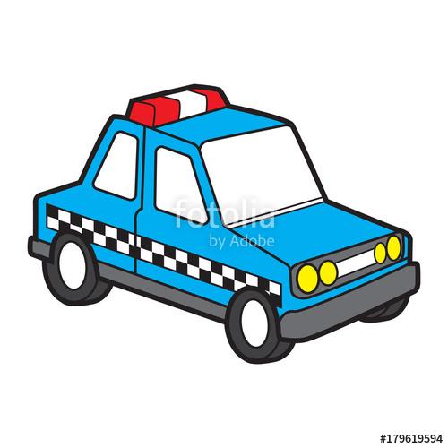 500x500 Cute Police Car Vector Cartoon Stock Image And Royalty Free