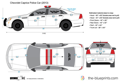 400x270 Chevrolet Caprice Police Car Vector Drawing