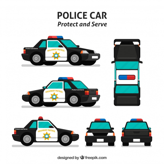 626x626 Different Views Of Police Car Vector Free Download