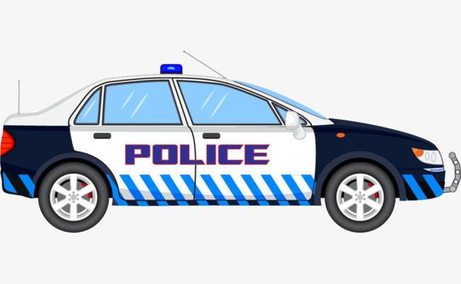 650x400 Png Police Car Vector Material, Car Vector, Vector, Vector