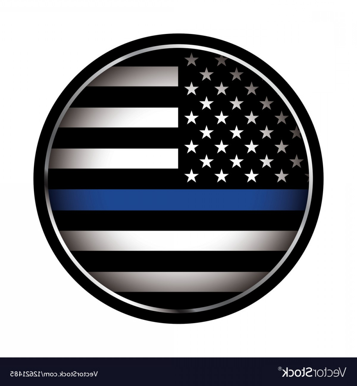 1200x1296 Police Lives Matter Thin Blue Line Flag Vector Rongholland