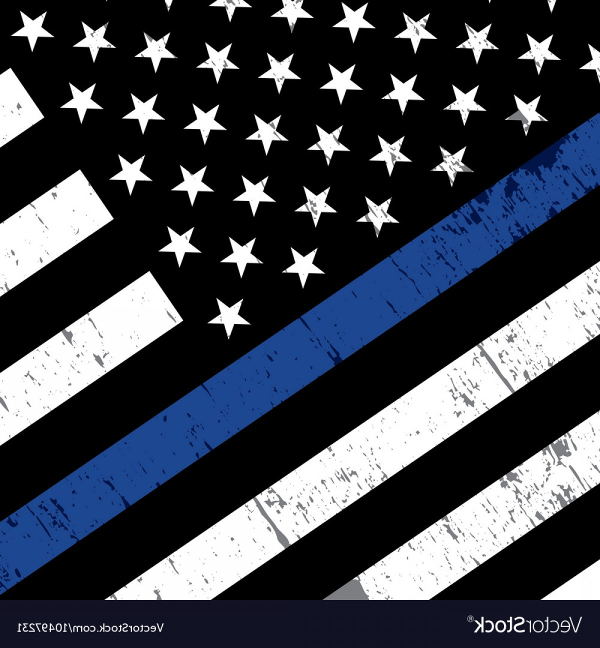 1200x1296 Police Support Flag Background Vector Orangiausa